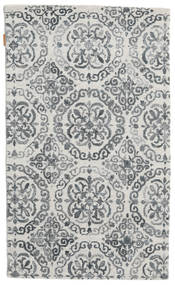 Himalaya Bamboo Silk Rug 90X150 Authentic  Modern Handknotted Beige/Dark Grey/Light Grey ( India)