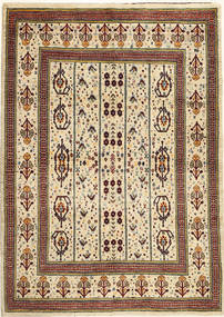 Lori Baft Persia Rug 121X167 Authentic  Modern Handknotted Beige/Dark Brown (Wool, Persia/Iran)
