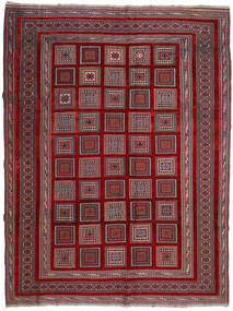 Kilim Golbarjasta Rug 203X267 Authentic  Oriental Handwoven Dark Red/Dark Brown (Wool, Afghanistan)