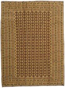 Kelim Golbarjasta Teppich 210X287 Echter Orientalischer Handgewebter Hellbraun/Braun (Wolle, Afghanistan)
