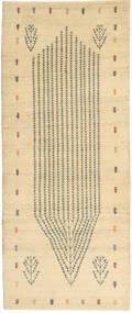 Lori Baft Persia Matto 85X207 Moderni Käsinsolmittu Käytävämatto Tummanbeige/Keltainen (Villa, Persia/Iran)