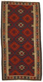 Kelim Maimane Matto 105X205 Itämainen Käsinkudottu Tummanpunainen/Tummanruskea/Vaaleanruskea (Villa, Afganistan)