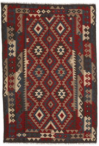 Kelim Maimane Tapijt 166X243 Echt Oosters Handgeweven Donkerrood/Donkerbruin (Wol, Afghanistan)