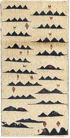 Lori Baft Persia Matto 74X150 Moderni Käsinsolmittu Beige/Keltainen (Villa, Persia/Iran)