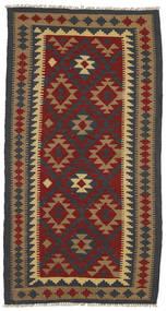 Kelim Maimane Matta 102X194 Äkta Orientalisk Handvävd Mörkgrå/Ljusbrun (Ull, Afghanistan)