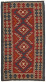 Килим Маимане Ковер 101X189 Сотканный Вручную Темно-Красный/Коричневый (Шерсть, Афганистан)