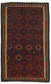 Kelim Maimane Teppe 157X260 Ekte Orientalsk Håndvevd Svart/Mørk Rød (Ull, Afghanistan)