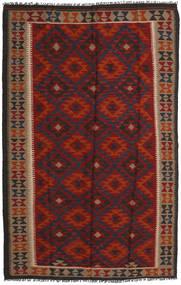 Kilim Maimane Rug 155X250 Authentic Oriental Handwoven Dark Red/Black (Wool, Afghanistan)