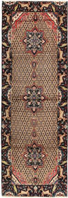 Koliai Rug 112X328 Authentic  Oriental Handknotted Hallway Runner  Light Brown/Brown/Black (Wool, Persia/Iran)