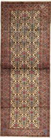 Hamadan Matto 103X280 Itämainen Käsinsolmittu Käytävämatto Tummanruskea/Vaaleanruskea (Villa, Persia/Iran)