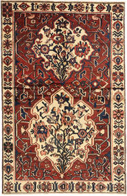 Bakhtiari Rug 145X227 Authentic Oriental Handknotted Dark Red/Beige (Wool, Persia/Iran)