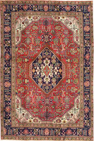 Tabriz Vloerkleed 192X285 Echt Oosters Handgeknoopt Donkerrood/Lichtbruin (Wol, Perzië/Iran)