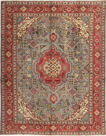 Tabriz Rug 303X387 Authentic  Oriental Handknotted Dark Red/Light Brown Large (Wool, Persia/Iran)