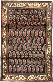 Hamadan Rug 105X162 Authentic  Oriental Handknotted Light Brown/Black (Wool, Persia/Iran)