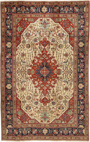 Tabriz Rug 197X312 Authentic  Oriental Handknotted Dark Red/Light Brown (Wool, Persia/Iran)