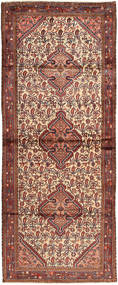 Hamadan Rug 120X306 Authentic  Oriental Handknotted Hallway Runner  Dark Brown/Dark Red/Brown (Wool, Persia/Iran)