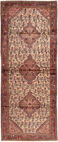 Hamadan Matto 120X306 Itämainen Käsinsolmittu Käytävämatto Tummanpunainen/Ruskea (Villa, Persia/Iran)