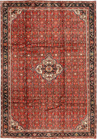 Hosseinabad Rug 212X303 Authentic  Oriental Handknotted Dark Red/Rust Red (Wool, Persia/Iran)