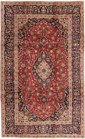 カシャン 絨毯 197X323 オリエンタル 手織り 深紅色の/薄茶色 (ウール, ペルシャ/イラン)