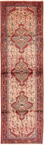 Hamadan Rug 87X300 Authentic  Oriental Handknotted Hallway Runner  Rust Red/Light Brown (Wool, Persia/Iran)