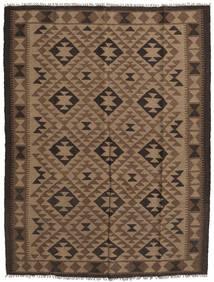 Kelim Maimane Teppe 157X204 Ekte Orientalsk Håndvevd Brun/Svart (Ull, Afghanistan)