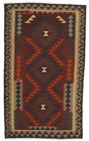Kilim Maimane Szőnyeg 97X160 Keleti Kézi Szövésű Sötétszürke/Sötétpiros/Világosbarna (Gyapjú, Afganisztán)