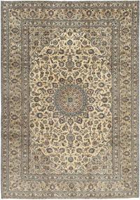 Kashan Patina Tapis 242X350 D'orient Fait Main Marron Clair/Gris Foncé (Laine, Perse/Iran)