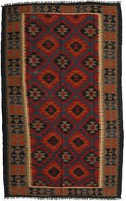 Kelim Maimane Koberec 150X245 Orientální Ruční Tkaní Černá/Tmavě Červená (Vlna, Afghánistán)
