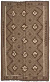 Kelim Maimane Teppich  155X248 Echter Orientalischer Handgewebter Braun/Hellbraun (Wolle, Afghanistan)