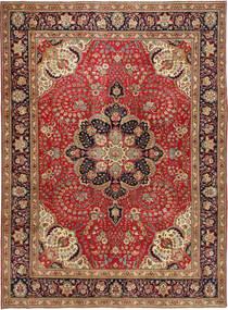 Tabriz Patina Matto 254X347 Itämainen Käsinsolmittu Tummanpunainen/Ruskea Isot (Villa, Persia/Iran)