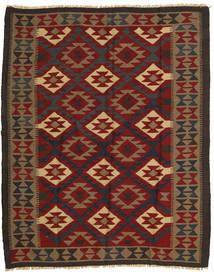 Kelim Maimane Matto 157X193 Itämainen Käsinkudottu Tummanpunainen/Tummanruskea (Villa, Afganistan)