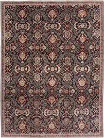 Mashad Patina Alfombra 233X310 Oriental Hecha A Mano Marrón Claro/Negro (Lana, Persia/Irán)