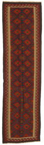 Kilim Maimane Rug 82X297 Authentic  Oriental Handwoven Hallway Runner  Dark Red/Dark Grey (Wool, Afghanistan)
