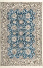 Nain 6La Habibian Matto 210X323 Itämainen Käsinsolmittu Vaaleanharmaa/Vaaleanruskea (Villa/Silkki, Persia/Iran)