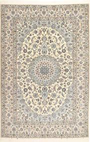 Nain 6La Habibian Rug 207X314 Authentic  Oriental Handknotted Light Grey/Beige/Dark Beige (Wool/Silk, Persia/Iran)
