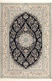 Nain 6La Habibian Matto 208X307 Itämainen Käsinsolmittu Vaaleanharmaa/Vaaleanruskea (Villa/Silkki, Persia/Iran)
