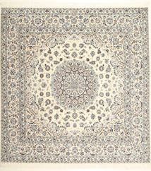 Nain 6La Habibian Rug 255X265 Authentic  Oriental Handknotted Square Beige/Light Grey Large (Wool/Silk, Persia/Iran)