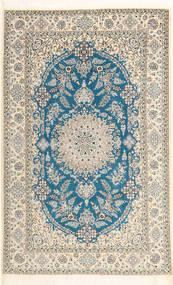 Nain 6La Habibian Covor 150X233 Orientale Lucrat Manual Bej/Maro Deschis (Lână/Mătase, Persia/Iran)