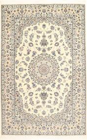 Nain 6La Alfombra 163X250 Oriental Hecha A Mano Beige/Gris Claro (Lana/Seda, Persia/Irán)