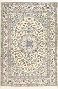 Nain 6La Habibian Matto 207X307 Itämainen Käsinsolmittu Beige/Vaaleanharmaa (Villa/Silkki, Persia/Iran)