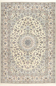 Nain 6La Habibian Rug 207X307 Authentic  Oriental Handknotted Light Grey/White/Creme (Wool/Silk, Persia/Iran)