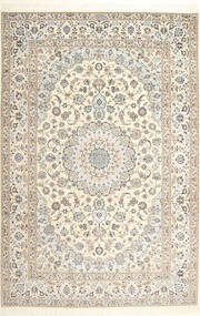 Nain 6La Habibian Rug 206X308 Authentic  Oriental Handknotted Beige/Light Brown (Wool/Silk, Persia/Iran)