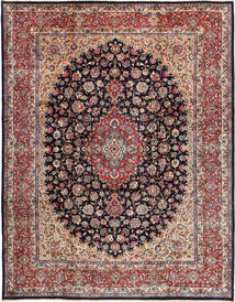 Mashad Rug 302X390 Authentic  Oriental Handknotted Light Grey/Dark Blue Large (Wool, Persia/Iran)