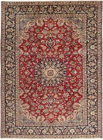 Najafabad Matto 257X350 Itämainen Käsinsolmittu Tummanpunainen/Tummanruskea/Vaaleanruskea Isot (Villa, Persia/Iran)