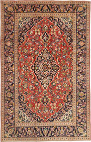 Keshan Rug 197X303 Authentic  Oriental Handknotted Crimson Red/Beige (Wool, Persia/Iran)