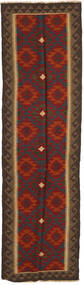 Kilim Maimane Rug 80X286 Authentic  Oriental Handwoven Hallway Runner  Dark Red/Dark Grey (Wool, Afghanistan)