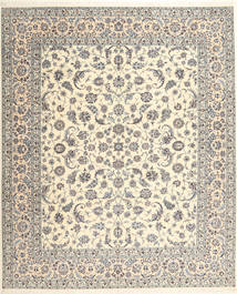 Nain 6La Habibian Teppe 262X314 Ekte Orientalsk Håndknyttet Beige/Lys Grå/Lysbrun Stort (Ull/Silke, Persia/Iran)