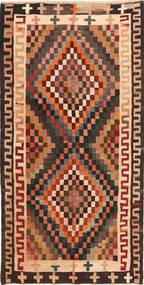 Kilim Fars Rug 160X325 Authentic  Oriental Handwoven Black/Light Pink (Wool, Persia/Iran)