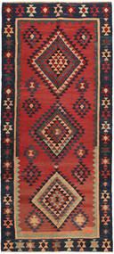 Kilim Rug 140X320 Authentic  Oriental Handwoven Hallway Runner  Rust Red/Black (Wool, Persia/Iran)