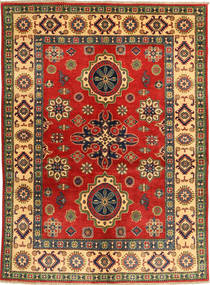 Kazak Teppe 155X209 Ekte Orientalsk Håndknyttet Rust/Mørk Rød (Ull, Pakistan)